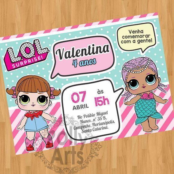 Convite Digital Virtual Bonecas LOL Surprise Em 2019