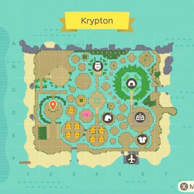 Island so far! Center 2x2 Square marks the exact center of ...