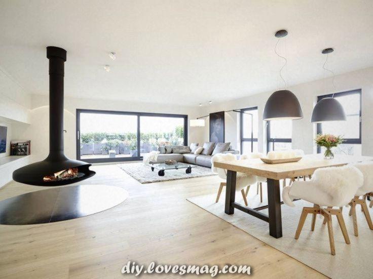 Außergewöhnlich Dachgeschoss: modernes Wohnzimmer mit ...