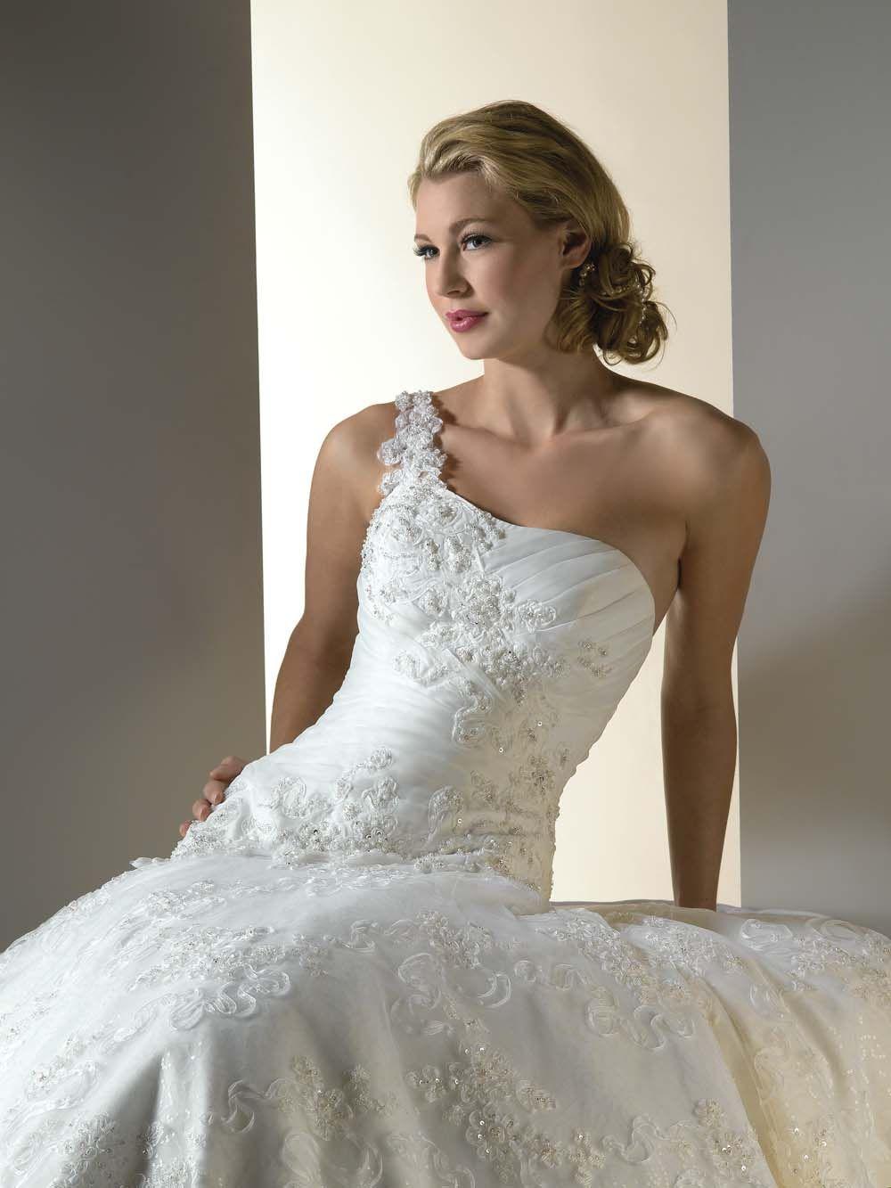 One Shoulder Lace Wedding Dresses