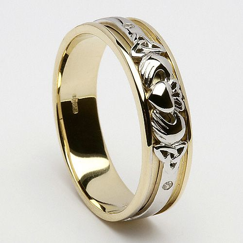 Claddagh Inset Wedding Ring C381 I Love This Pinterest