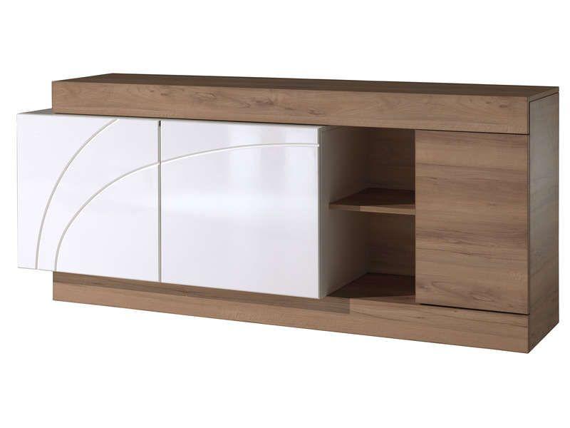 Buffet 3 portes+1 tiroir MALCOLM prix promo Buffet Conforama pas ...