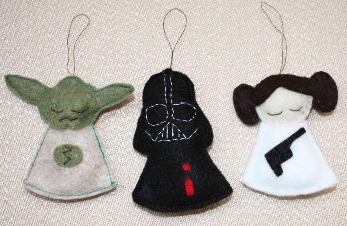 Interior Diy Star Wars Christmas Ornaments Diy Geekery Felt Ornaments  Animals Felt Angel Ornaments Astonishing Felt Ornaments  Felt Crafts   Pinterest