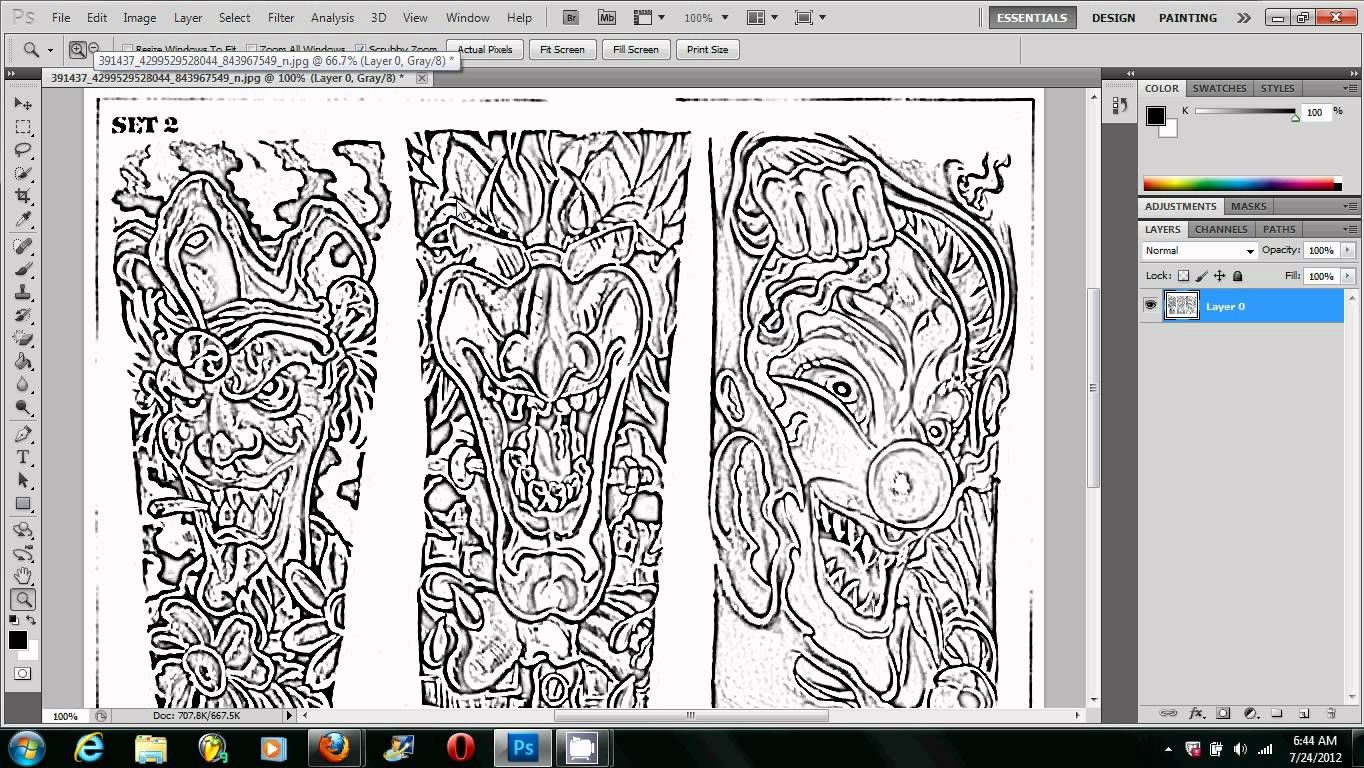 Making A Tattoo Stencil Using Photoshop The Right Way Globe Tattoos Tattoo Stencils Free Tattoo Designs