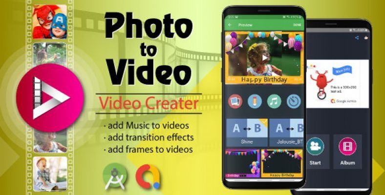 Photo Video Maker With Music Android Source Code In 2020 Video Maker With Music Add Music To Video Video Maker