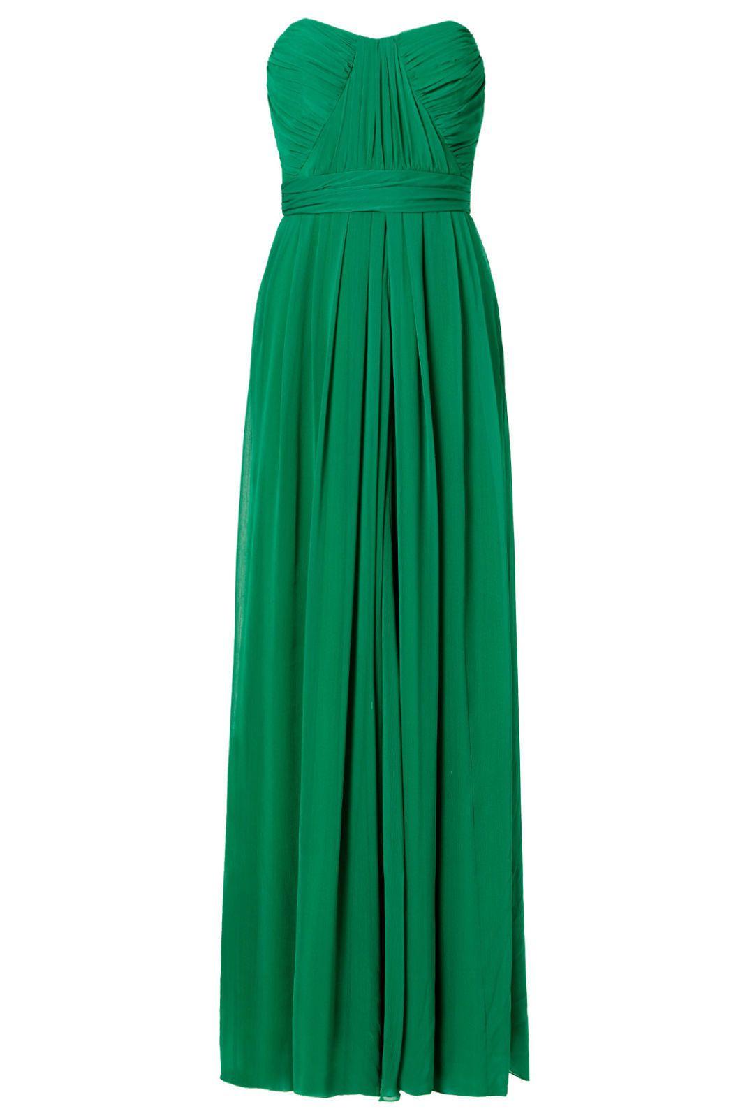 Cool great badgley mischka green womenus size empirewaist