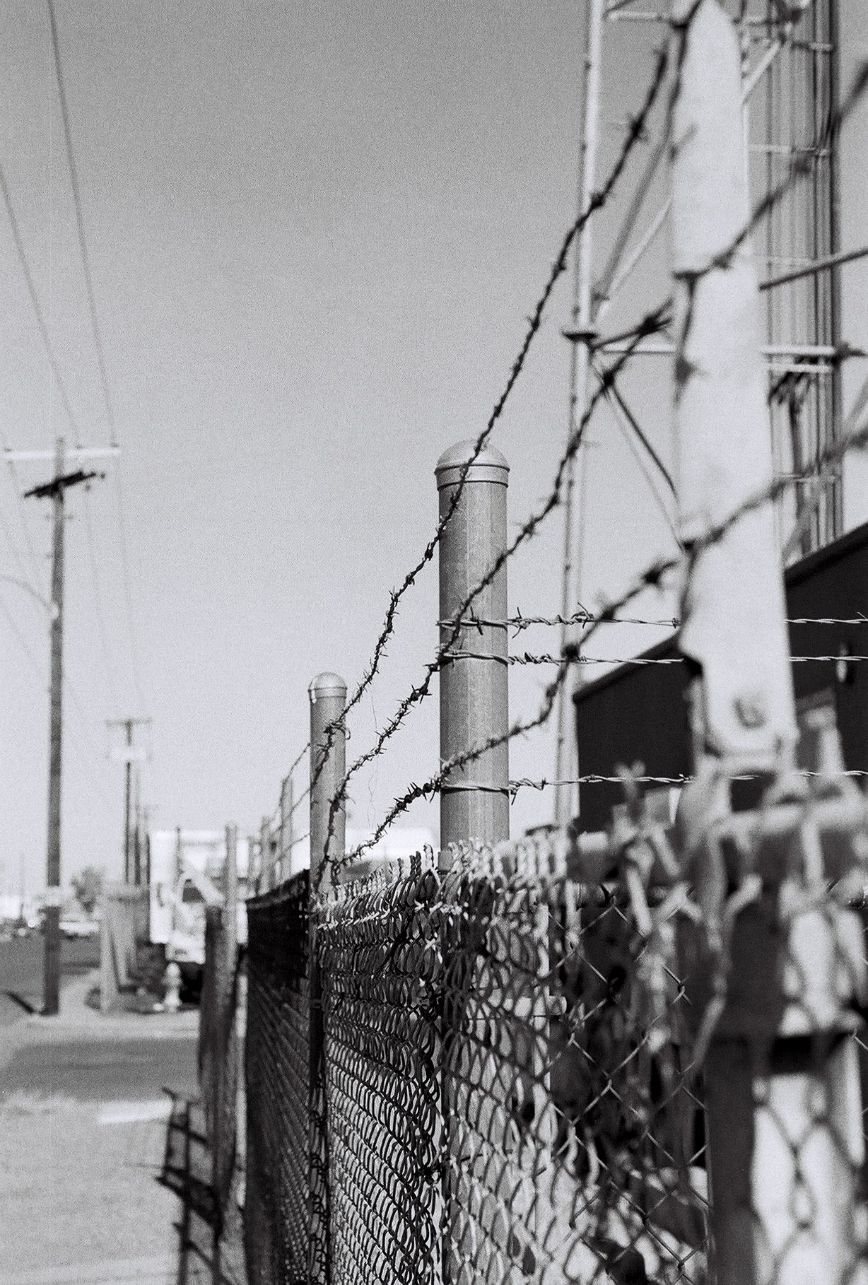 Barbed Wire Fence - Vintage - Black and White Photography - Film ...
