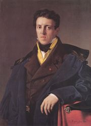 Charles Marie Jean-Baptiste Marcotte (Marcotte d'Argenteuil) by Ingres. The painting is now in the collections of the National Gallery of Art in Washington D.C.