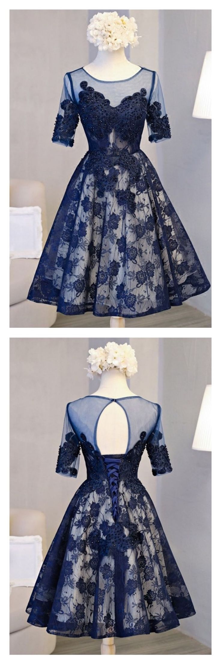 Off the shoulder homecoming dress blue cheap homecoming dress