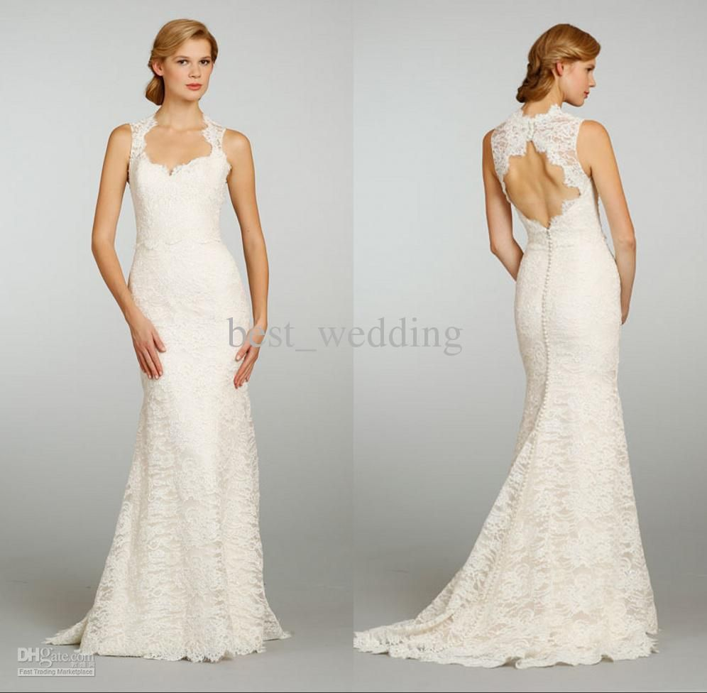 Simple Lace Wedding Dress   Wedding Dresses   Pinterest