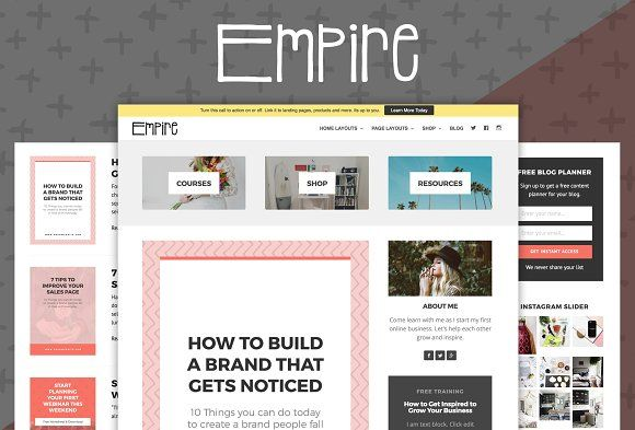 Empire Theme + Free Bonus by Authority on @Graphicsauthor | Themes ...