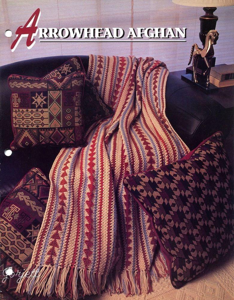 Arrowhead Afghan Southwest Style Annies Crochet Pattern