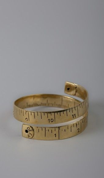 Measuring tape wrap ring. such an adorable idea.