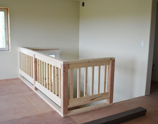 Ana white build a wood handrail plans free and easy for Easy stairs diy
