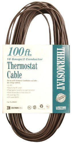 Coleman Cable 09632 Cl2 Bulk Thermostat Cable 18 Gauge 2 Conductor 100 Feet By Coleman Cable 22 99 From Thermostat Wiring Heating Systems Electrical Cables