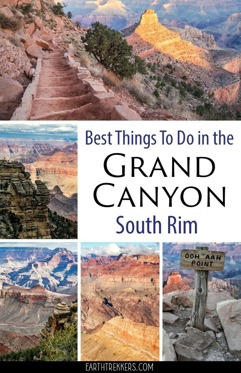Best Things to do on South Rim of Grand Canyon National Park Arizona