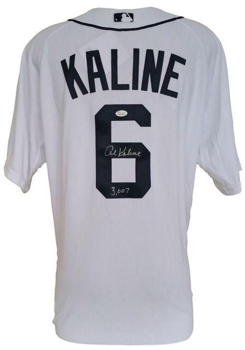reputable site d5c44 2049a Al Kaline Signed Detroit Tigers Majestic White Jersey 3007 ...