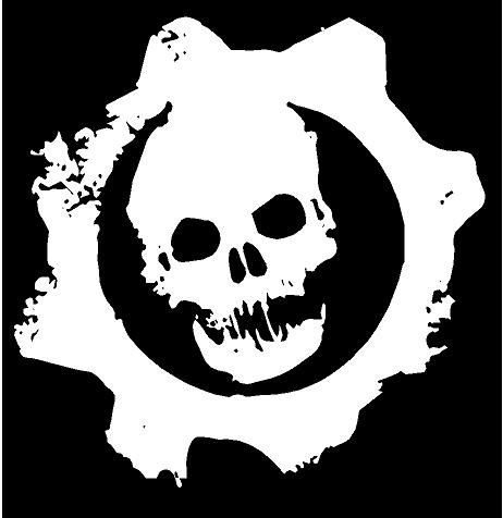 Gears of war decal cars trucks windows laptop bumper stickers x2 flipside graphicshttp