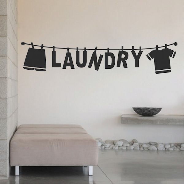 Laundry Wall Decal 15m Wall Decals Laundry Laundry Room Wall Art Laundry Shop