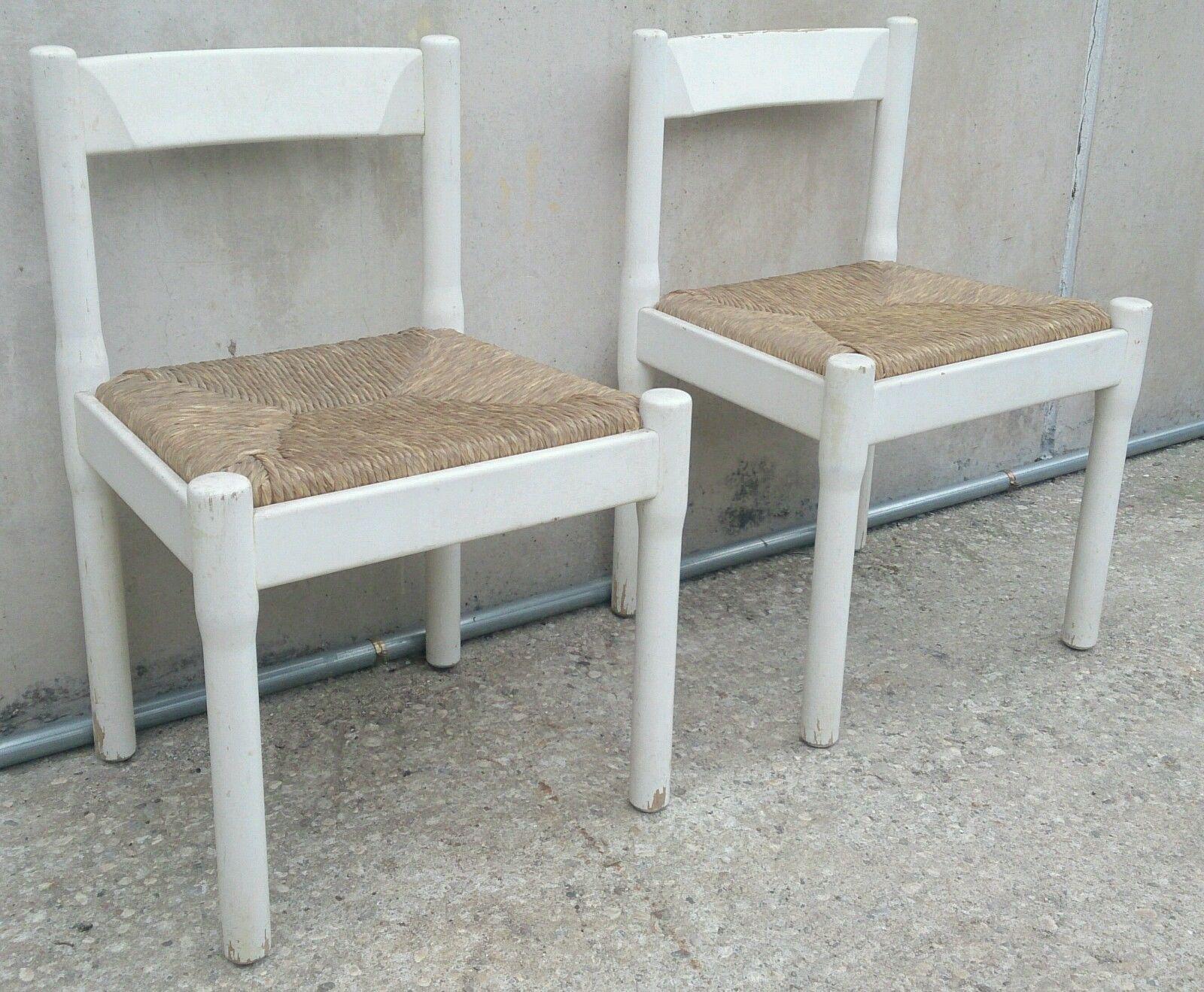 Sedie Antiquariato ~ Vico magistretti coppia di sedie carimate faggio laccato originali