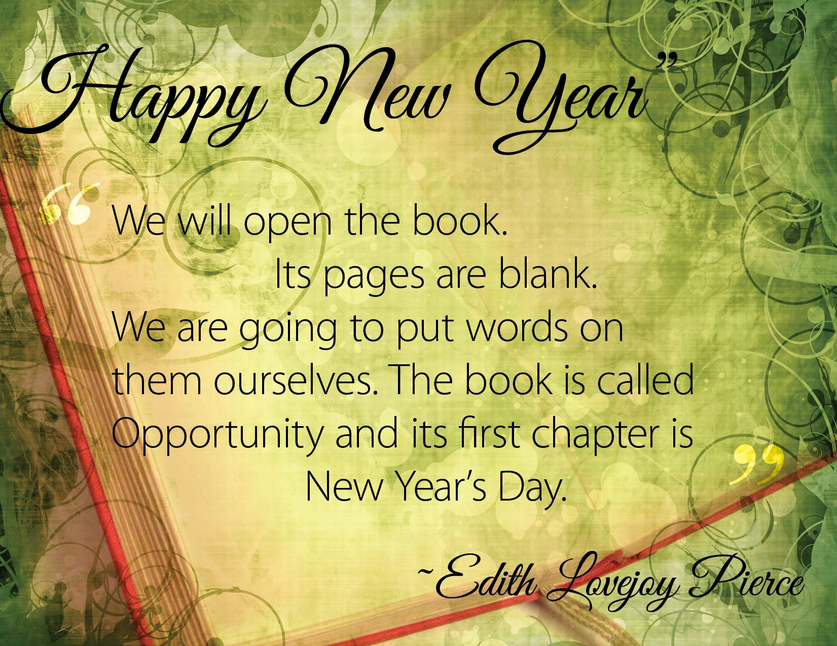 "New Year's Inspiration Edith Lovejoy Pierce ""We will"