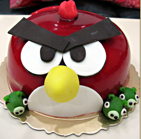 """""""angry birds"""" cakes~~"""