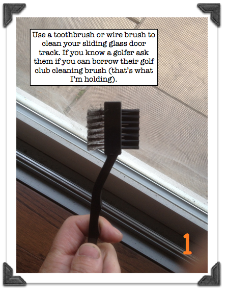How To Repair A Stuck Sliding Glass Door Use A Toothbrush Or Wire