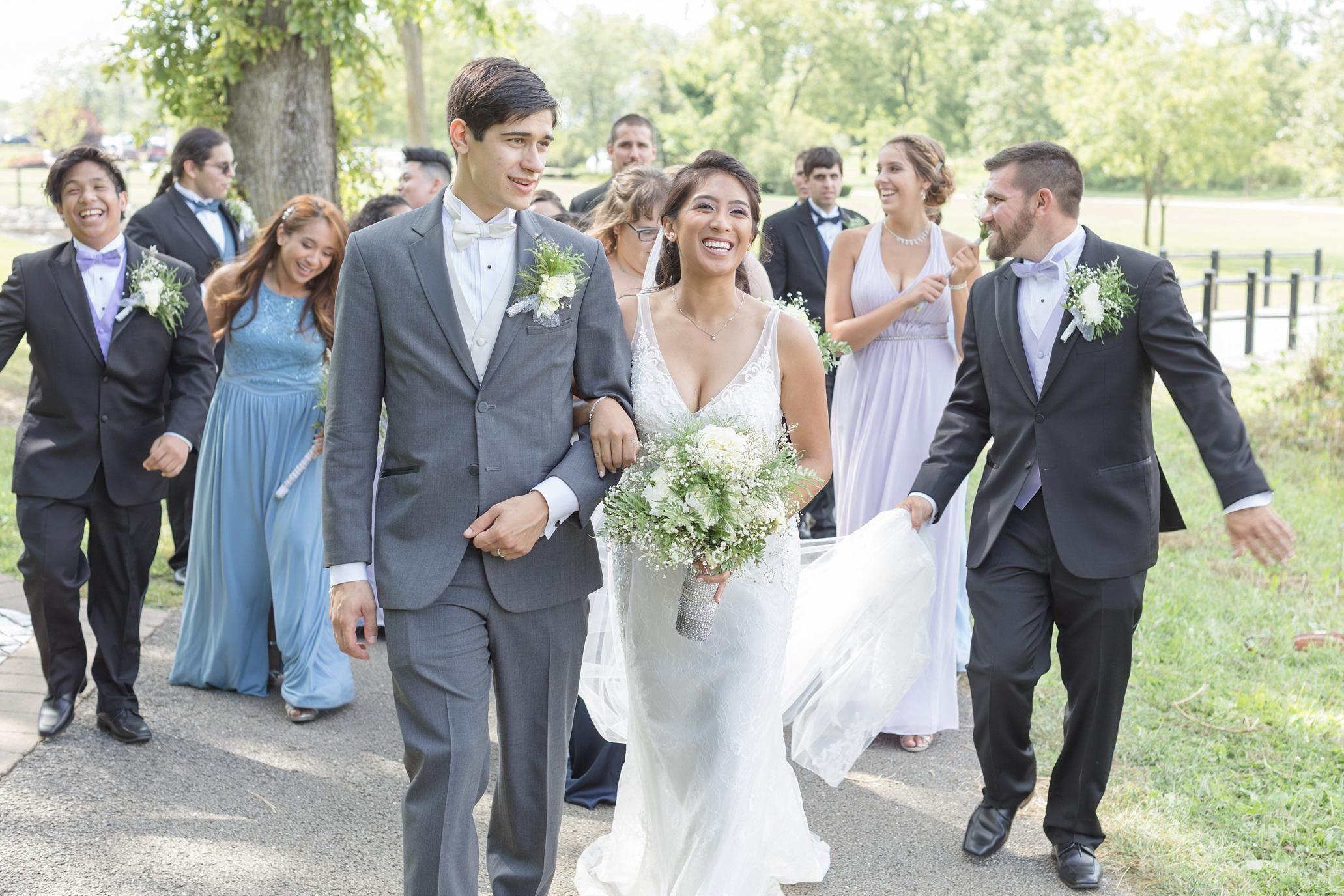 Dusty blue and purple wedding at tuscany falls in mokena illinois