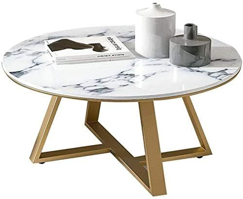#808045cm  #apartment  #blackgold  #coffee  #creative  #frame  #living  #marble  #metal  #modern  #nordic  #online  #room  #seetopstar  #shopping  #side  #small  #sofa  #table  #tea #Marble #Coffee  The Nordic Marble Coffee Table Living Room Sofa Side Table Small Apartment Round End Table Modern Creative Black/Gold Metal Frame Tea Table 80?80?45cm online shopping - Seetopstar