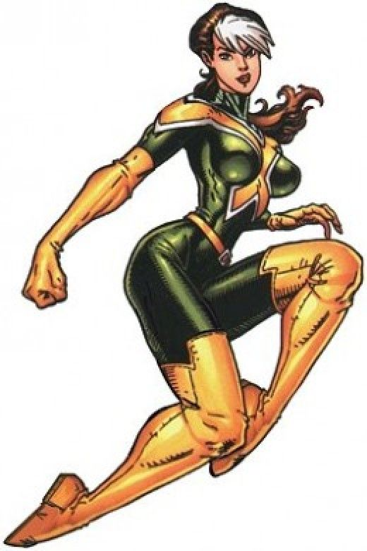 Rogue New Green and Yellow X-Men Uniform  sc 1 st  Pinterest & Rogue Costume History | Pinterest | Rogue costume and Rogues