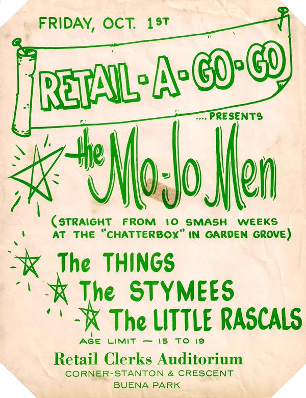 Mojo Men at the Retail-A-Go-Go (the Retail Clerks Auditorium), 1965
