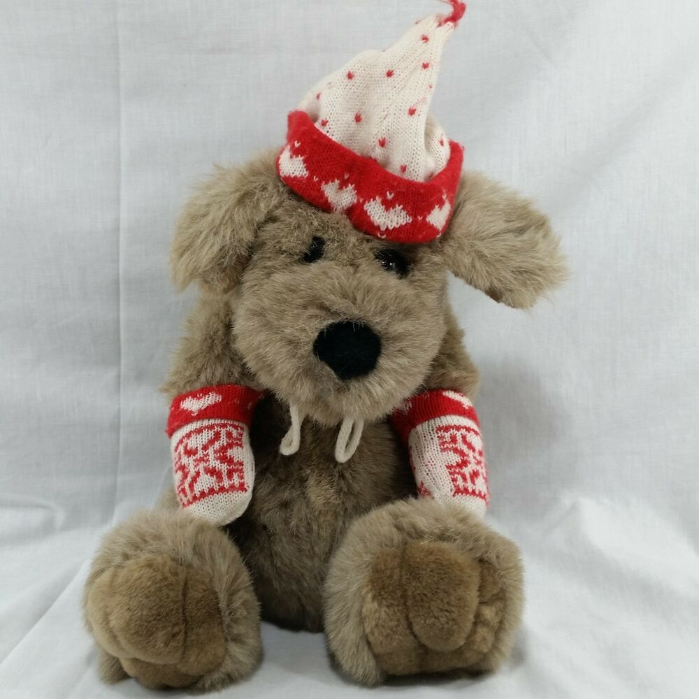 Vintage Plush Kris Mutt Dog Target Christmas Red White Mittens Hat Stuffed Puppy Target Plush Puppy Dog Plushies Plushto Mutt Dog Plush Dog Vintage Plush