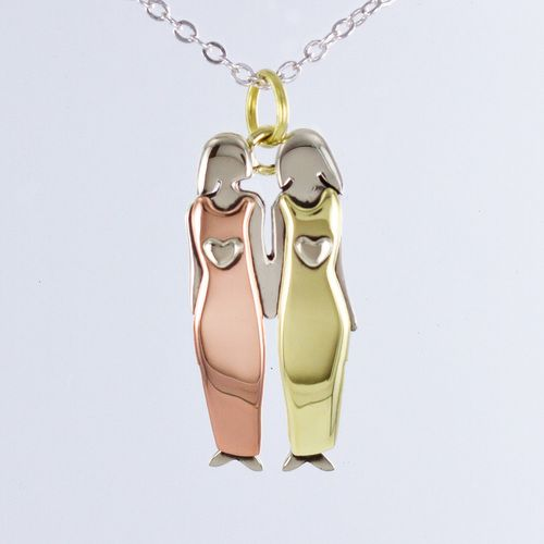 Far Fetched Mima and Oly Two Sisters Necklace