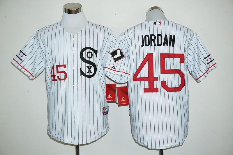 1c6ae6fa6060 ... top quality men chicago white sox 45 jordan white mlb jerseys 2ff3a  0f62f ...