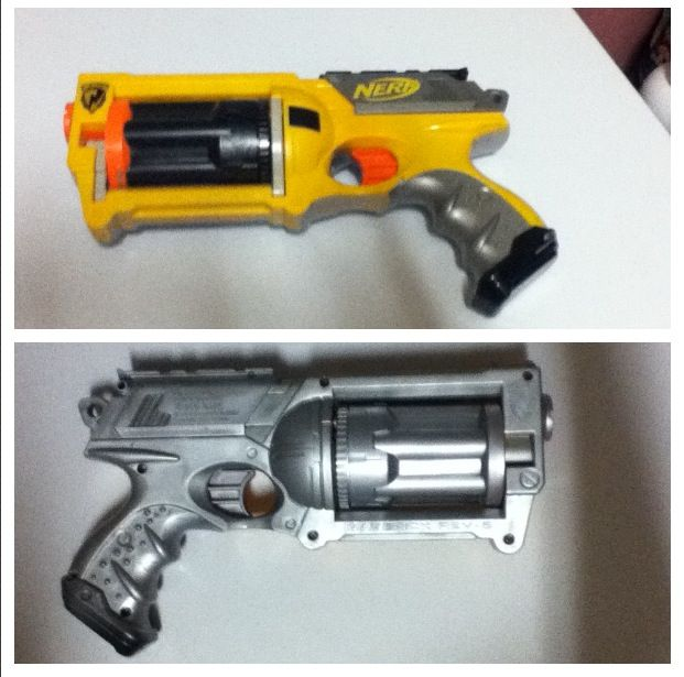 I just covered my nerf gun in silver spray paint and I
