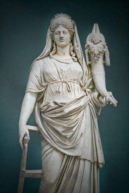 Demeter / Ceres sculpture, Vatican museum | Goddess statue ...