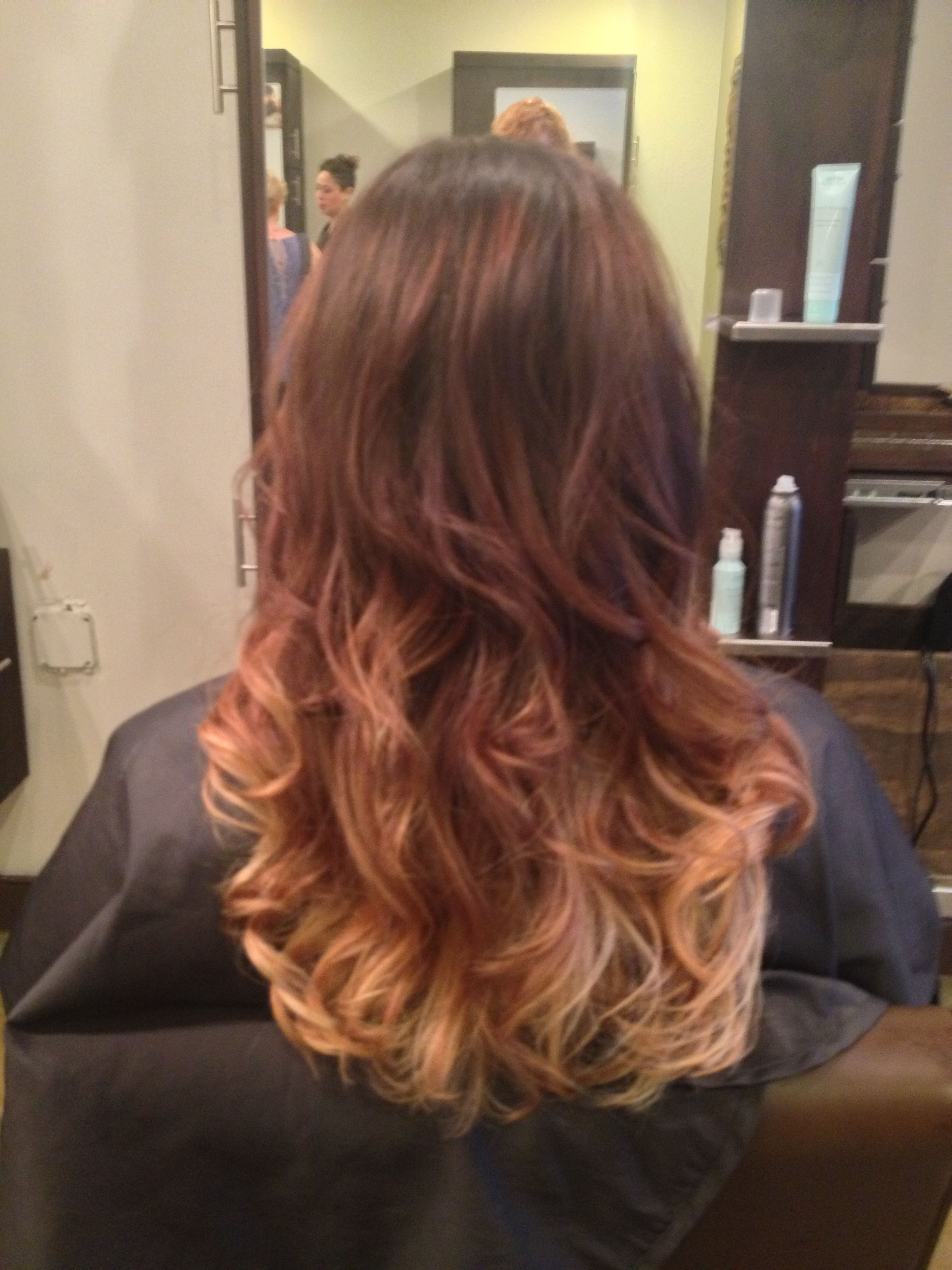 hair brown blonde ombre highlights