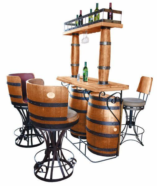Barrel Bar And Chairs