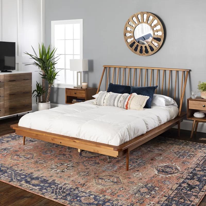 Dorinda Spindle Queen Platform Bed Reviews Allmodern Solid