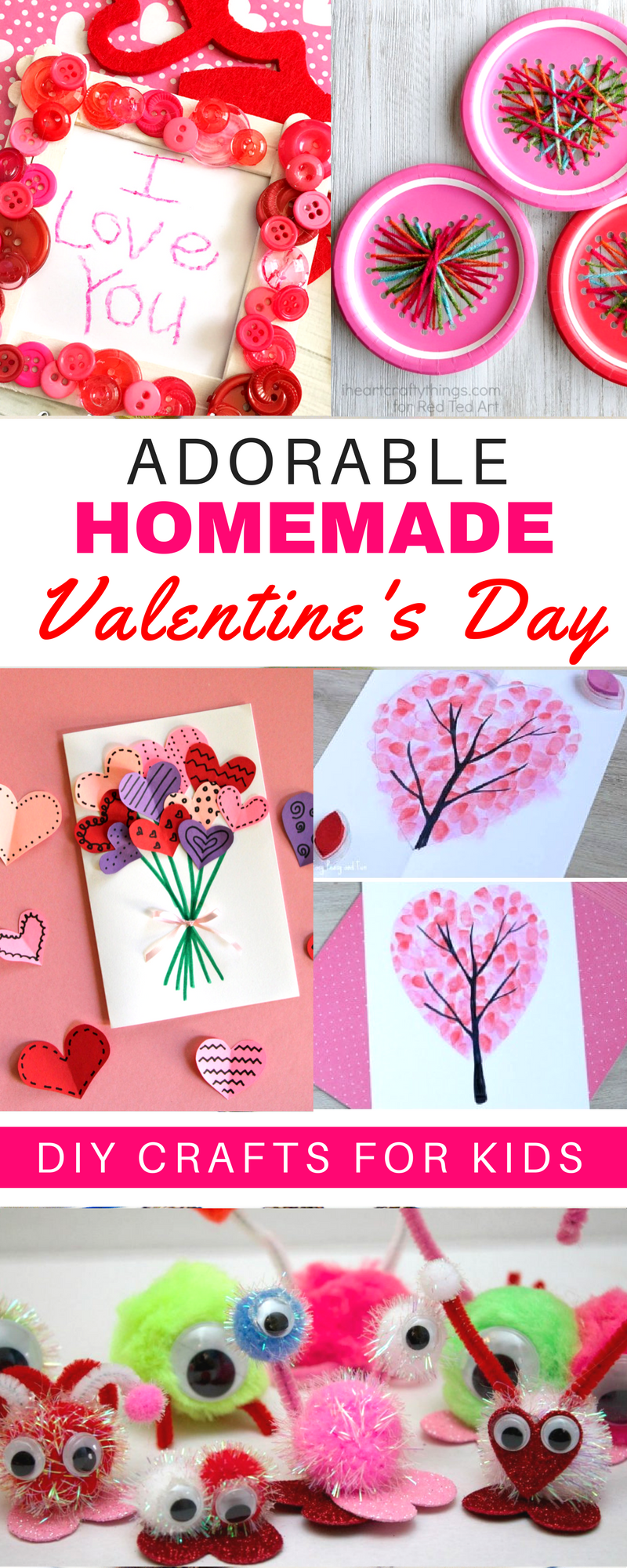 10 Adorable Homemade Valentine S Day Diy Ideas For Kids These Easy Heart Shaped Crafts Are Perfec Valentine S Day Diy Homemade Valentines Valentine Day Crafts