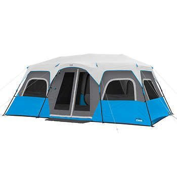 Core 12 Person Instant Cabin Tent With Built In Led