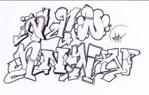 Alphabet N Graffiti