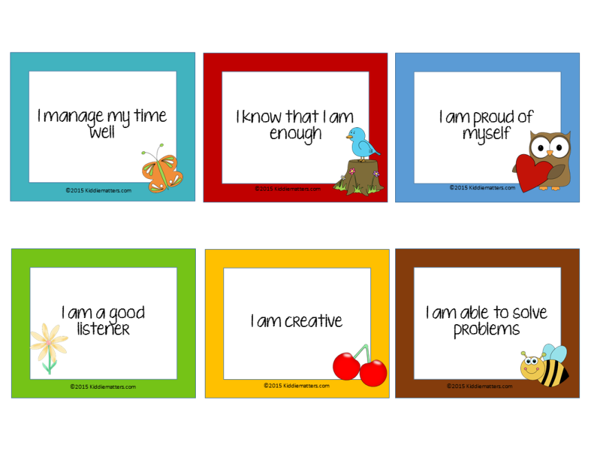 Free Affirmation Cards For Kids Kiddie Matters Positive Affirmation Cards Affirmations For Kids Affirmation Cards