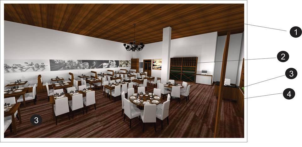 Interior Restaurante by Cristiane Costa Cores