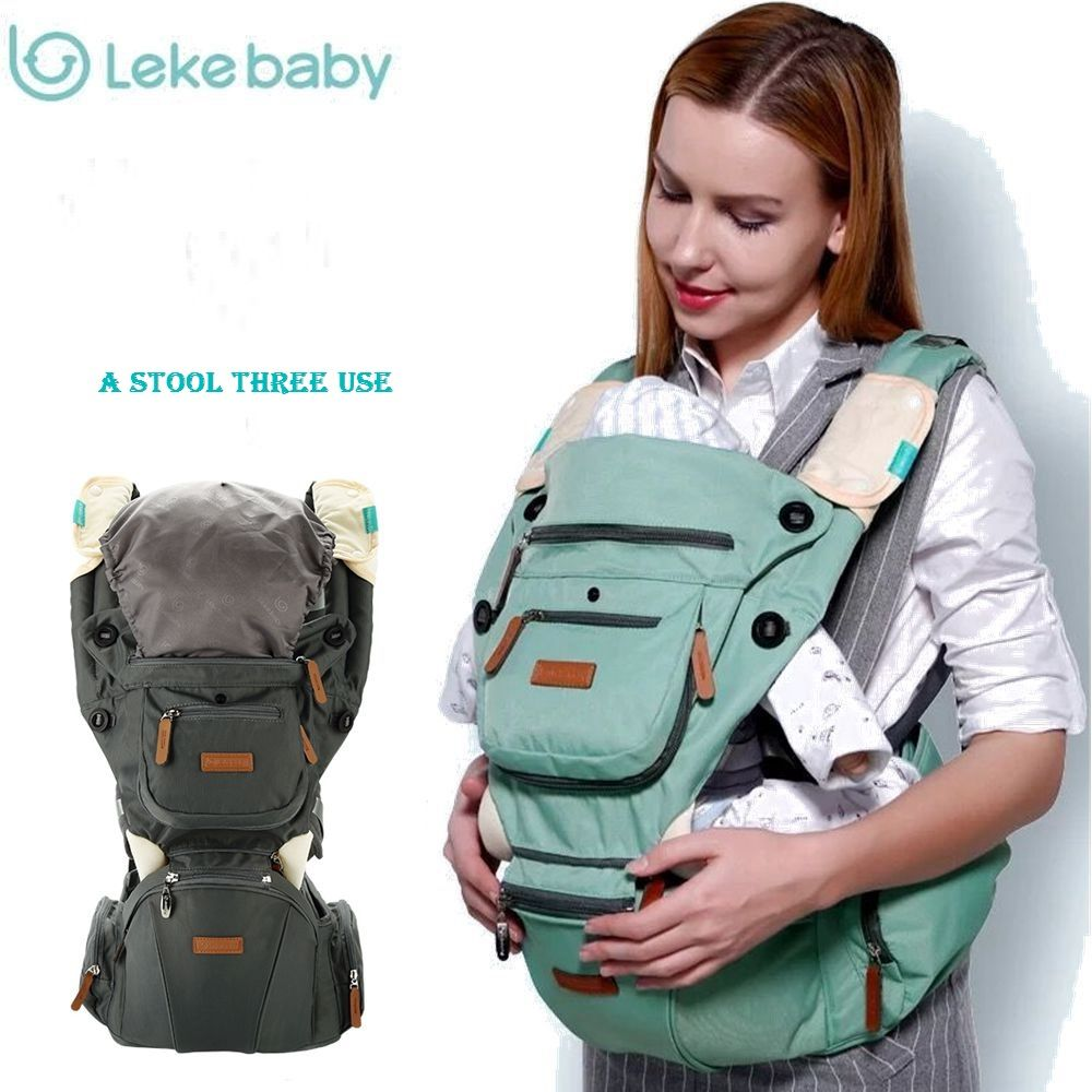 28294ed257f brand Multifunction Outdoor Kangaroo Baby Carrier Sling Backpack New Born  Baby Carriage Hipseat Sling Wrap Summer