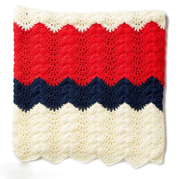Caron Summer Ripple Crochet Blanket | Crochet | Pinterest