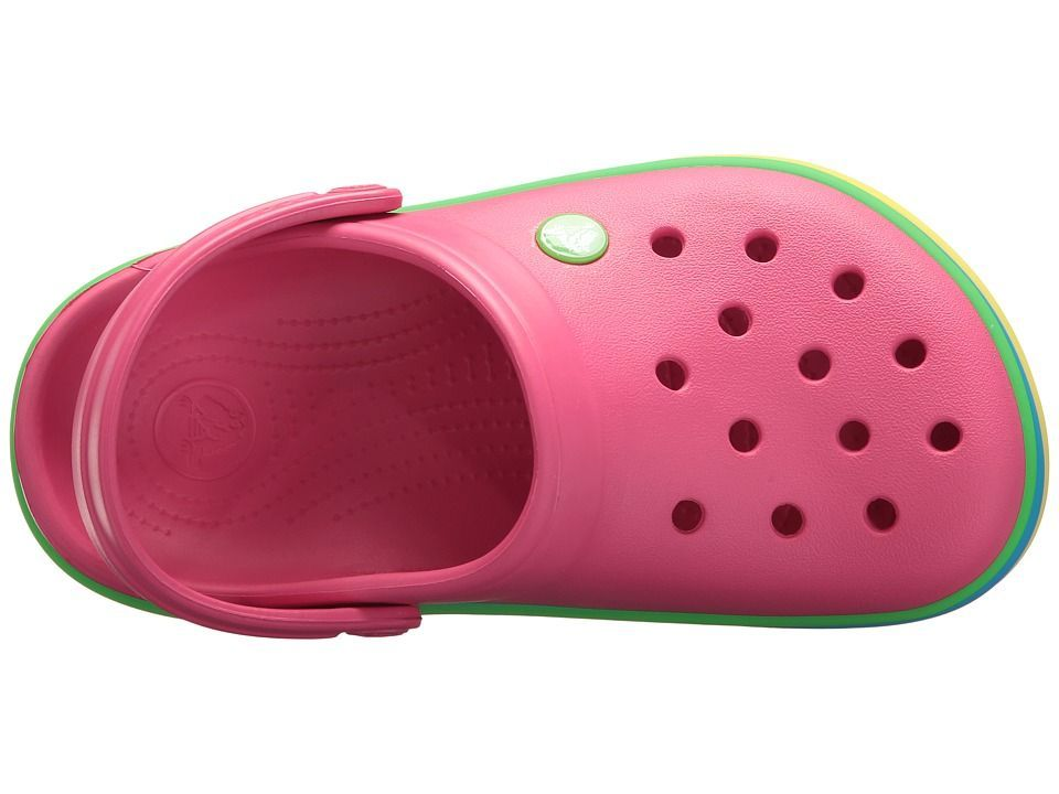 da0643038ed1e7 Crocs Kids Crocband Rainbow Band Clog (Toddler Little Kid) Kids Shoes  Paradise Pink