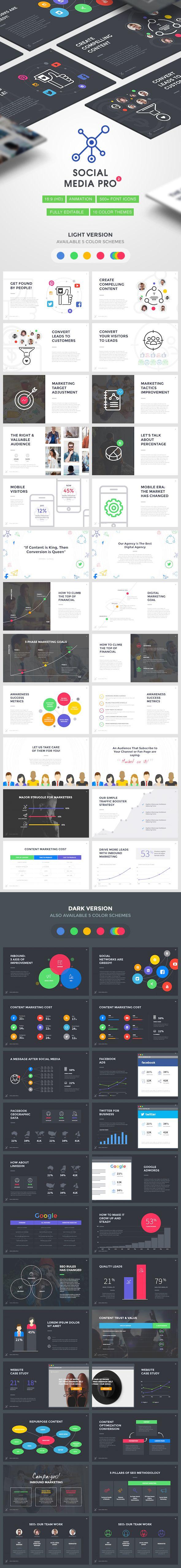 Social Media PRO 2 - Marketing Keynote Template | Keynote ...