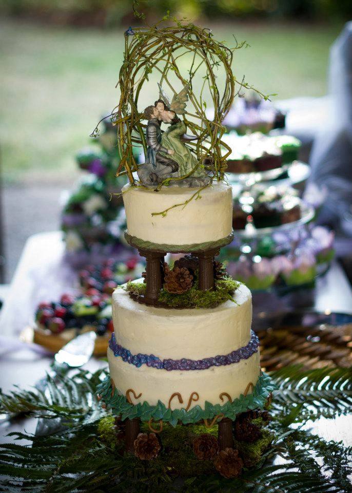 Midsummer Night's Dream wedding cake made by our family