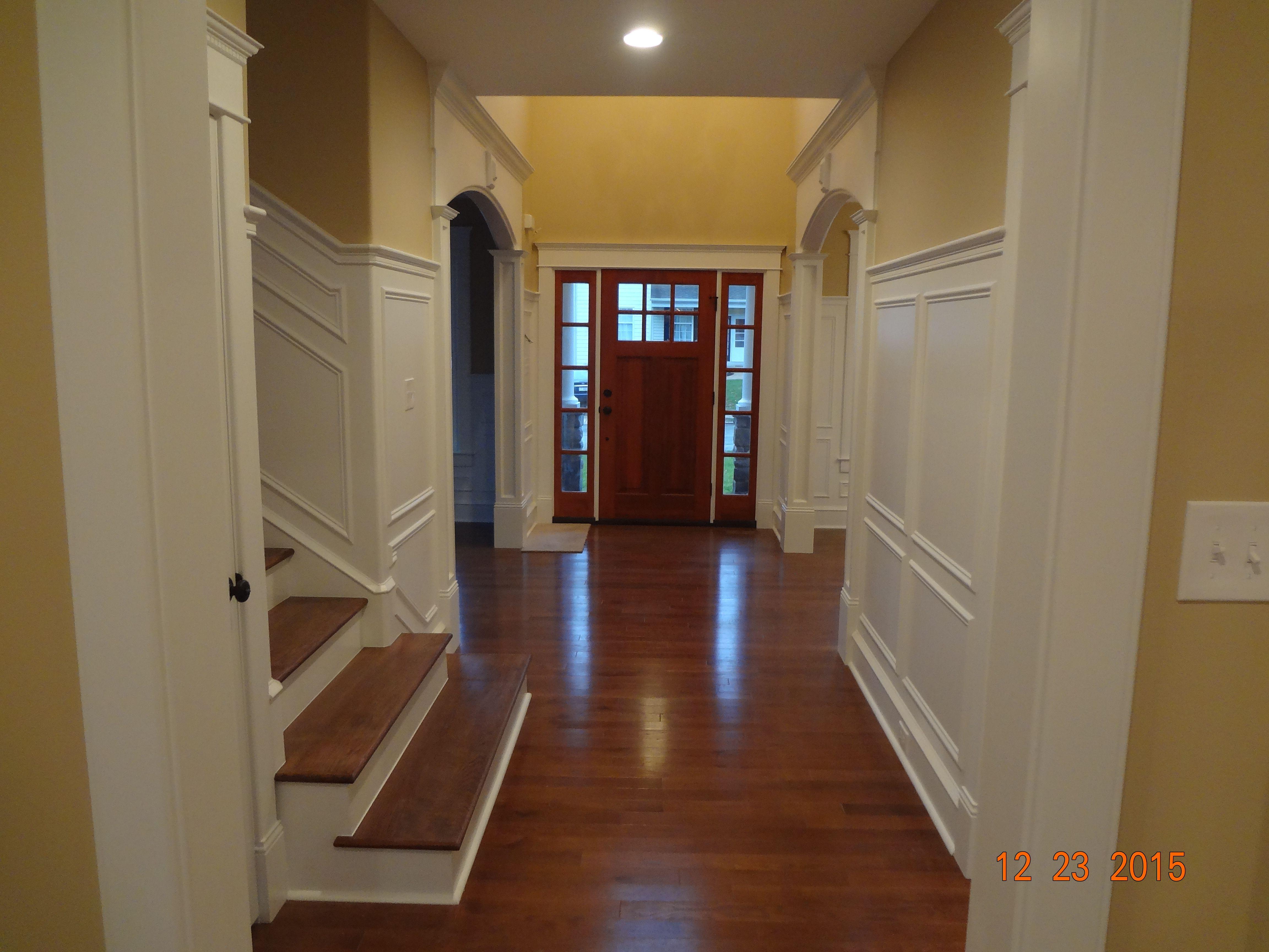Center hall and front door. Front door, Property, New